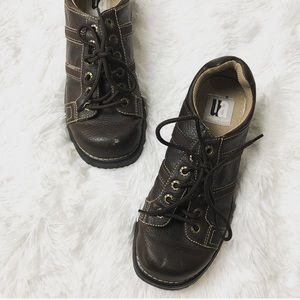 vintage 90s chunky brown grunge lace up shoes 10.5